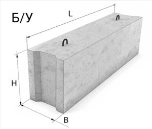 Фундаментные блоки б/у
